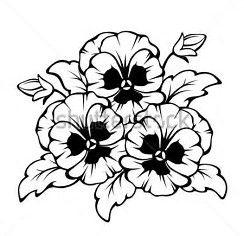 Image Result For Pansy Flower Drawing Simple Cvetochnyj Risunok Raskraski Konturnye Risunki