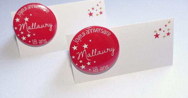 Marque place original carton badge d co mariage soir e for Badge fait maison
