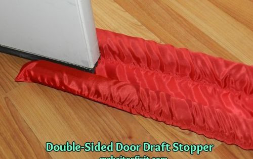 Draft Excluder Draught Stopper Cushion For Doors Cross Hatch Zipped Fabric