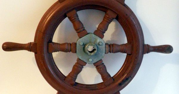 Nautical 20 quot vintage wooden ship steering wheel pirate