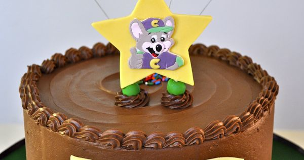 Chuck E. Cheese themed birthday cake  Chocolate Chipmunk Cakes ...