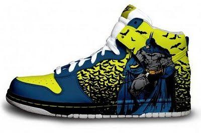Batman Custom Nike Air Force One's   Batman shoes, Sneakers