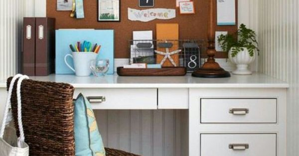 Cute small space office decor home office ideas for Cute home office ideas