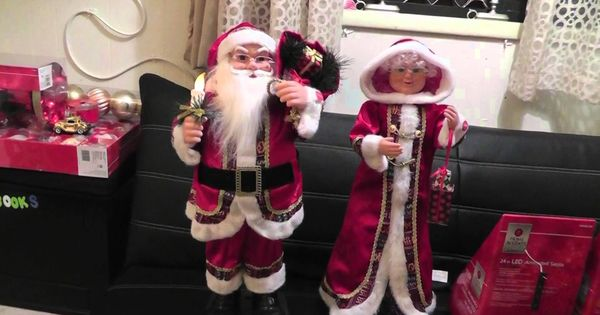 Animated Musical Santa & Mrs. Claus. My Home Depot