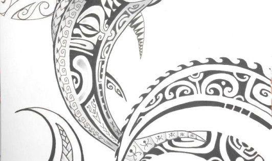 Motif pour dessin de tatouage polyn sien maori - Dessin espadon ...