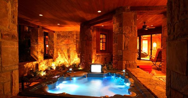 An Indoor Hot Tub Home Decorating Pinterest
