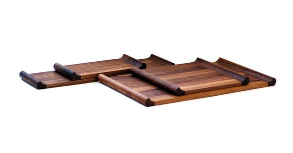 Trays platters walnut canape plinth 5 i wood trays i for Canape serving platters