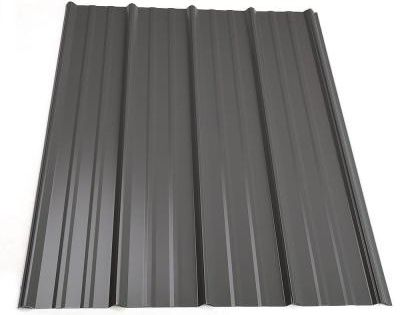 Best 8 Ft Classic Rib Steel Roof Panel In Charcoal Steel 400 x 300