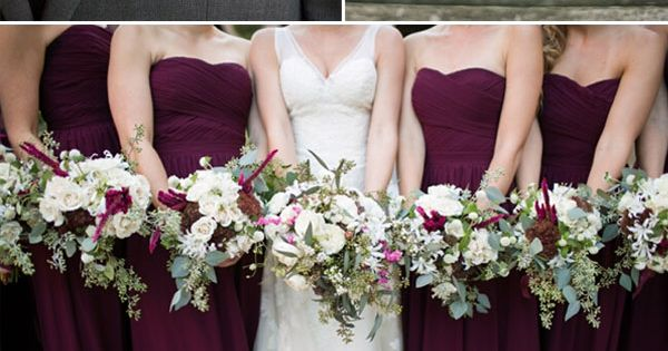 plum purple and grey elegant wedding color ideas