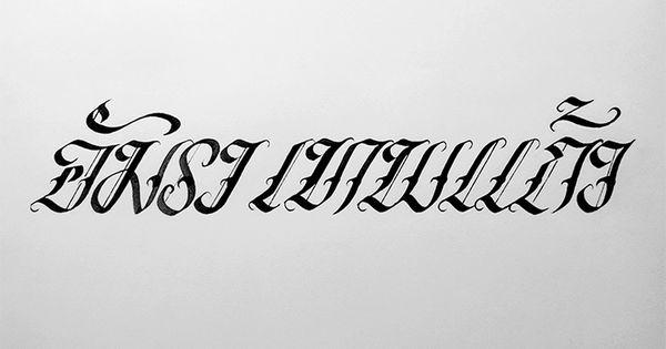 Amara thepkaew thai alphabet calligraphy