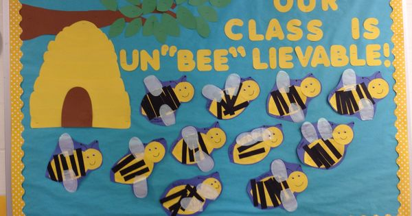 Preschool School Bulletin Board Spring Bumble Bee