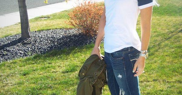 Short sleeve baseball tee • casual outfit