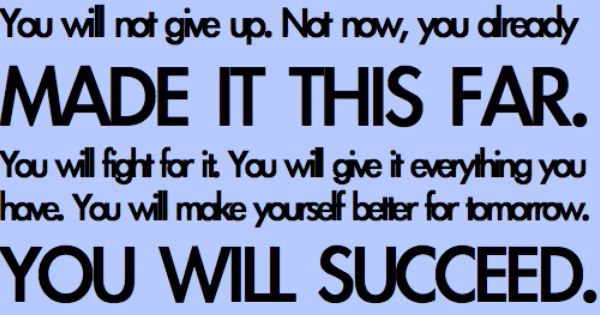 Will succeed!