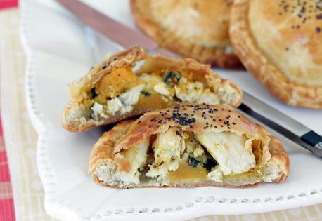 Chicken, Butternut Squash and Swiss Cheese Pocket Pies   Recipe ...