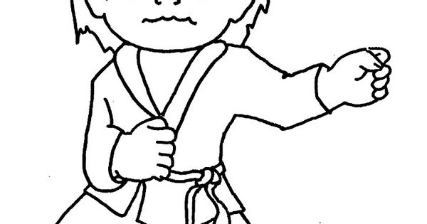Tae Kwon Do Colouring Pages
