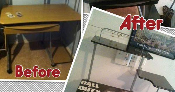 Call Of Duty Desk For A Teen Boy S Room Spray Paint Wood