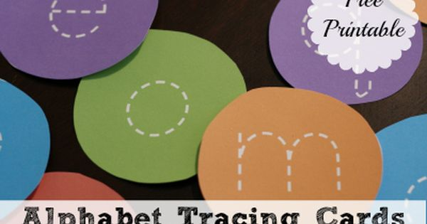 Free printable tracing cards. Good flashcards for learning letters?