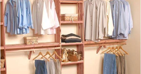 Deluxe Solid Wall Closet Organization Kit 10u0027   Closet Organization, Red  Cedar And Closet System