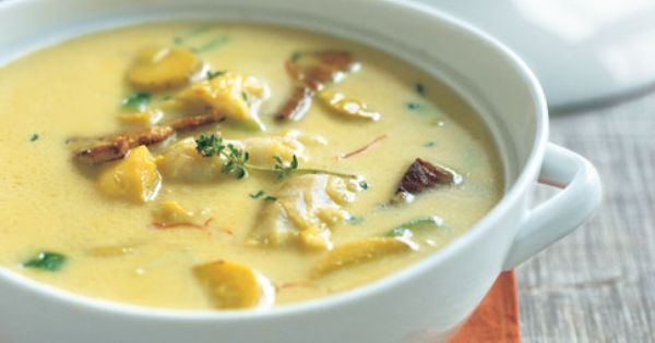 Cod Chowder with Saffron and Fingerling Potatoes | Recipe | Fingerling ...
