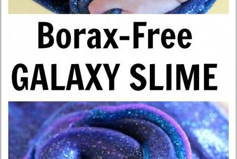 Make this beautiful, sparkly, stretchy slime that looks just like the swirls of a galaxy and keep your preschooler entertained for hours! Borax-free recipe