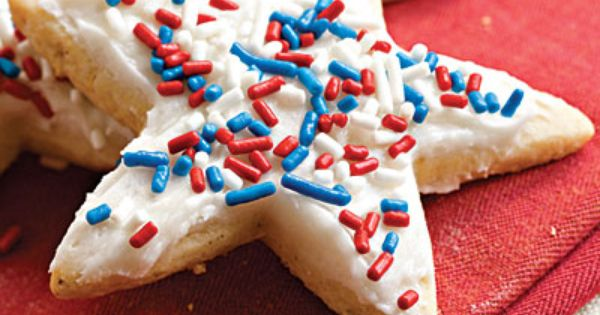 Frosted Sugar-'n'-Spice Cookies recipe - Fourth of July Party Recipes - Southern