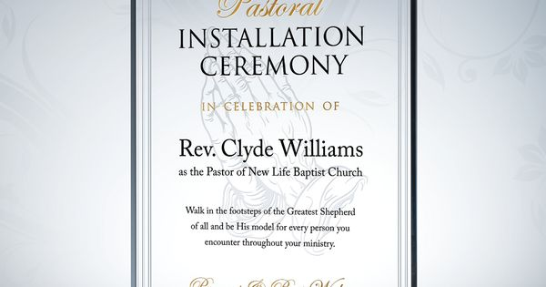 Pastor Installation Gift Plaque | Pastor and Gift