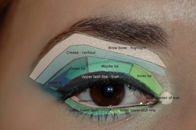 Eye Lid Anatomy For Eyeshadow Application Makeup Grey Smokey