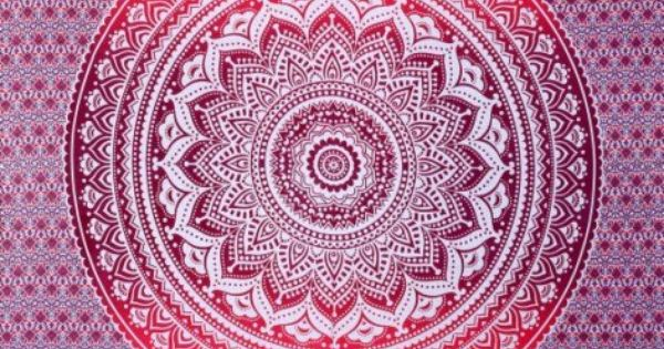 Indian floral tapisserie motif hippie ombre mandala de for Decoration murale mandala