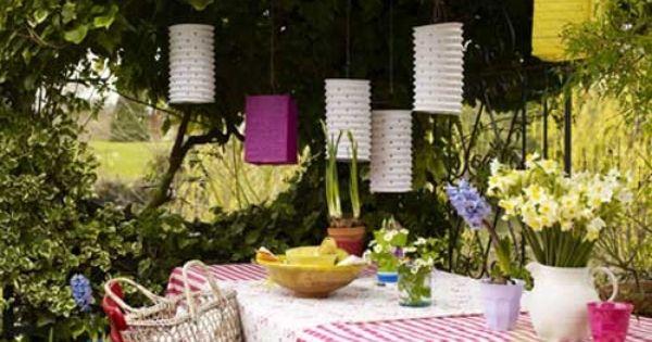 Decoratie idee n voor je tuinfeest tuinen zomer en tuin - Outdoor decoratie ideeen ...