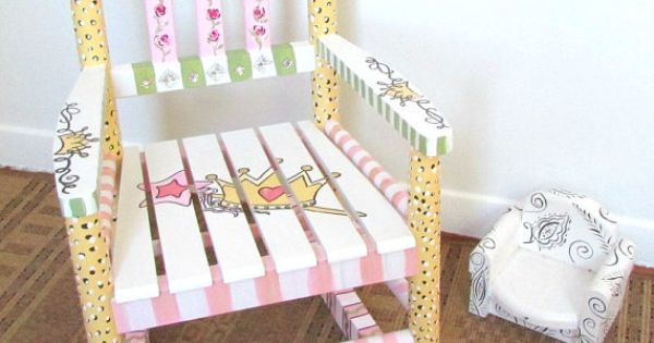 Child Rocking Chair Custom Personalized Nursery Decor