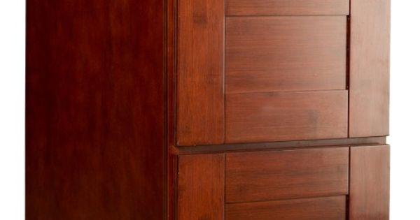 Bamboo kitchen cabinets brazilian cherry shaker 3 drawer for Brazilian cherry kitchen cabinets