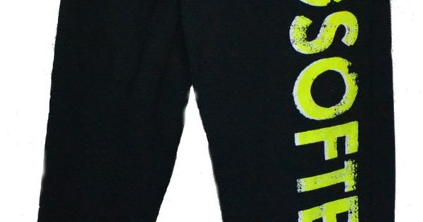 Softball Sweatpants Neon Yellow on Gray or Black by BADSportz1, $30.00