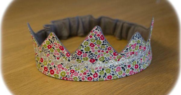 Une couronne pour ma princesse et un petit tuto pour vous tuto sacs trou - Pinterest couture deco ...