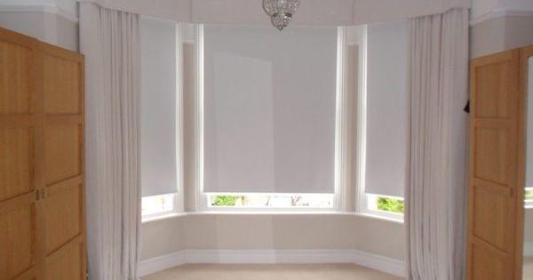 Drapery ideas for bay windows window treatment photos for 1930s bay window curtains