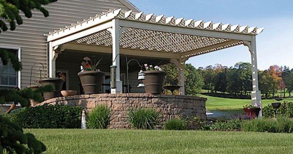 12x16 Ft White Pergola Vinyl Outdoor Patio Garden Shed Plans Accessory Kit Sale 1 288 63end Date Ebay Sales Home Garden Discounts Outdoor Pergola