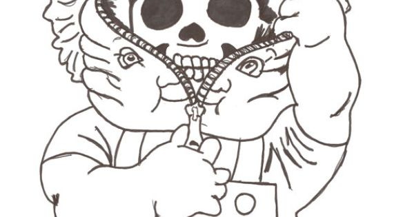 garbage pail kids coloring pages - photo#27
