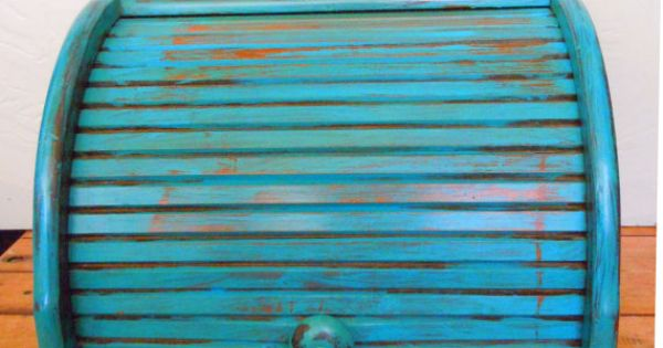Salvaged Wood Bread Box  빈티지소품  Pinterest