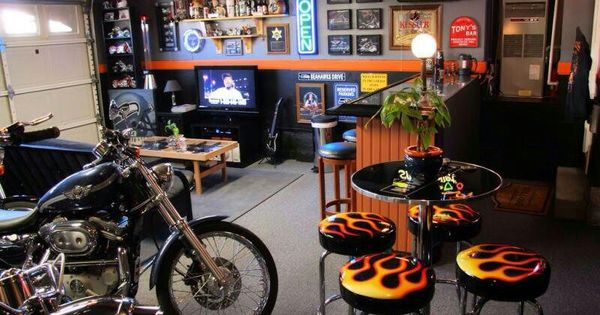 Hot Rod Man Cave Ideas : Motorcycle and hot rod themes for your basement or man