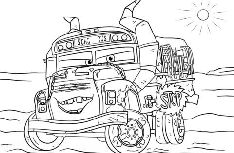 Miss Fritter From Cars 3 Coloring Page From Disney Cars Category Select From 26983 Printable Cr Disney Coloring Pages Cars Coloring Pages Truck Coloring Pages