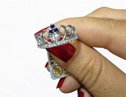 خاتم فضة عيار 925 خاتم فضة ايطالى تاج Heart Ring Class Ring Jewelry