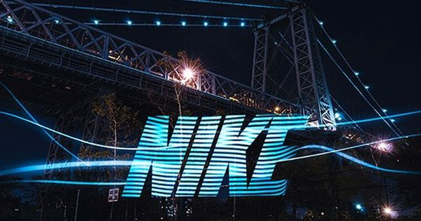 Wow A Lightning Bold Nike S Light Stencils Brightens Up The Nights Light Painting Long Exposure Photography Typography