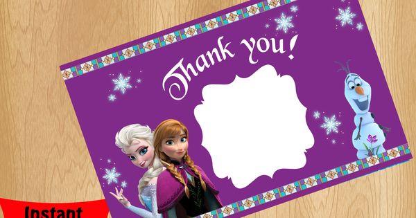 Disney Frozen Movie Thank you card   Disney Frozen Movie ...