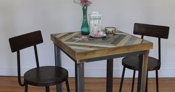 Pallet Wood Pub Table - Pyxis. $350.00, via Etsy.  chair  Pinterest