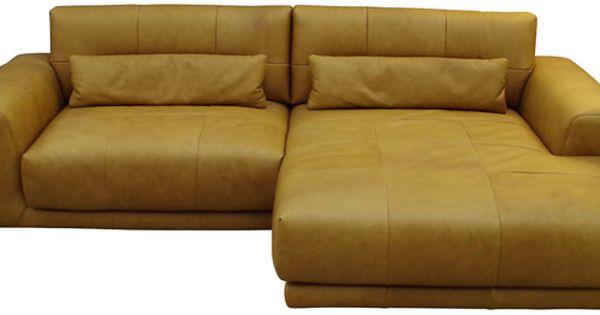 Lederecksofa Cognac Modul Sofa Sofa