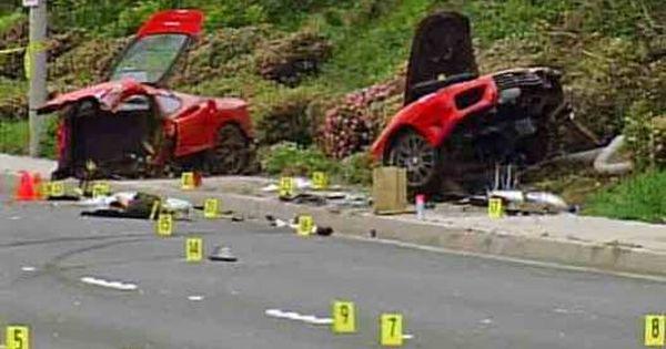 Fatal Ferrari Challenge Stradale Crash Usa Newport Beach California Car Crash Car Humor Crash