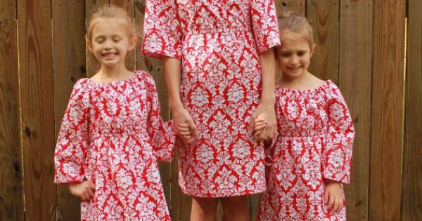 Mother Daughter Matching Christmas Dresses By