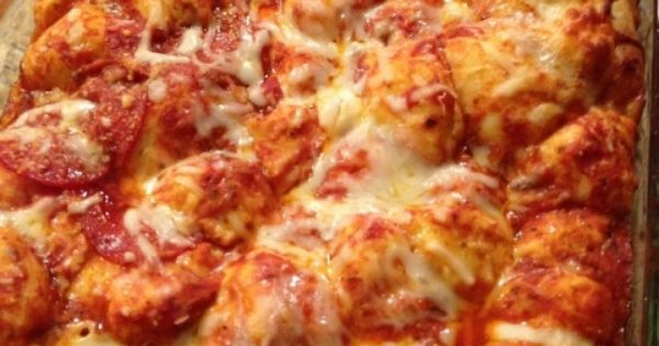 Bubble up pizza, Bubble up and Pizza casserole on Pinterest