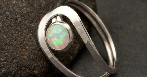 {FAVORITE!!}Opal Ring- Silver Opal Ring- Gemstone Ring- Sterling Silver Stone Ring- handmade