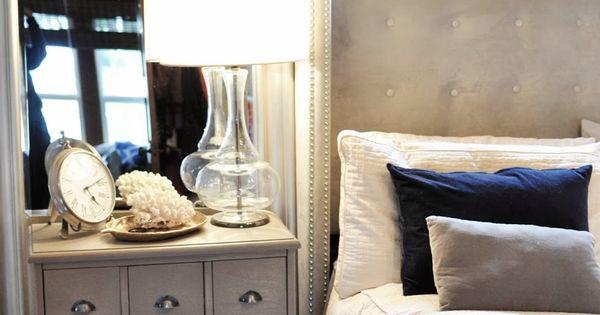 Master Bedroom Threshold Target Nightstand Upholstered Bed
