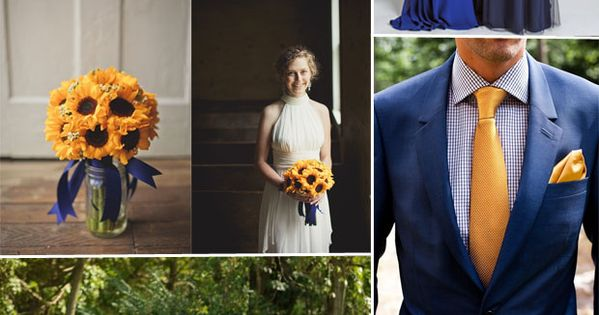 Dark Blue And Yellow Wedding: Classic Royal Blue Wedding Color Ideas And Bridesmaid